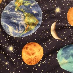 Bolygós padló babzsák  anyagminta