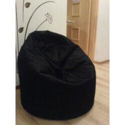 Fekete, felnőtt, csepp alakú babzsákfotel