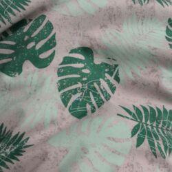 Kültéri babzsák anyag zöld leveles