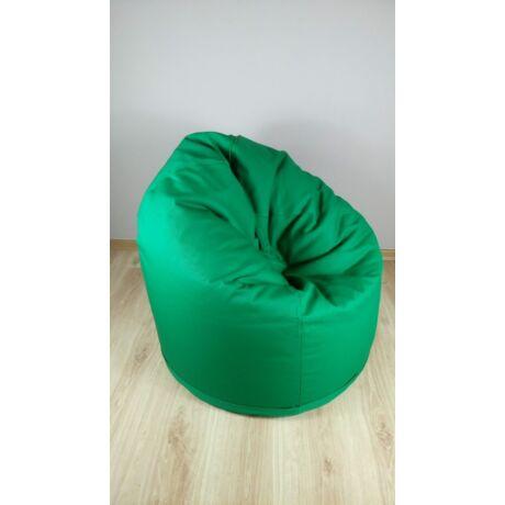 Zöld babzsákfotel, közepes méretben